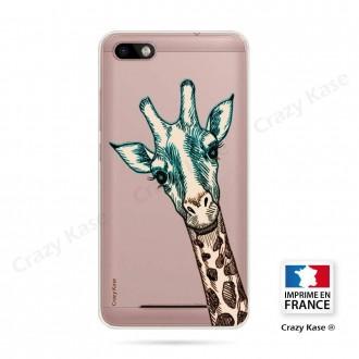 Coque Wiko Lenny 3 souple motif Tête de Girafe - Crazy Kase