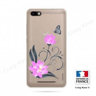 Coque Wiko Lenny 3 souple motif Fleur de lotus et papillon- Crazy Kase