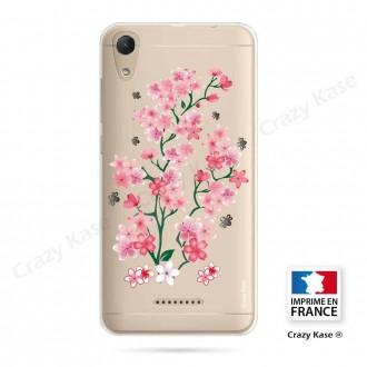 Coque Wiko Lenny 4 souple motif Fleurs de Sakura - Crazy Kase