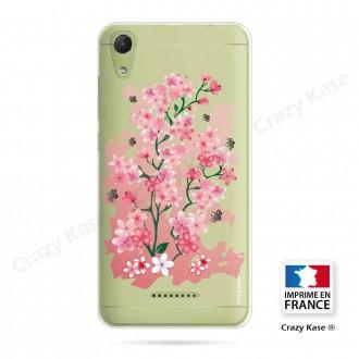 Coque Wiko Lenny 4 souple motif Fleurs de Cerisier - Crazy Kase