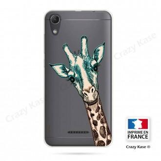 Coque Wiko Lenny 4 souple motif Tête de Girafe - Crazy Kase