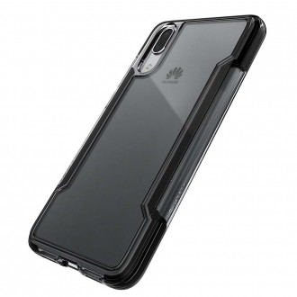 Coque Huawei P20 Defense Clear transparente contour noir - Xdoria