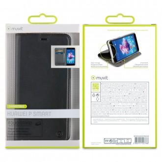 Etui Huawei PSmart Porte cartes Noir - Muvit
