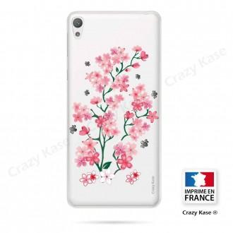 Coque Xperia E5 souple motif Fleurs de Sakura - Crazy Kase