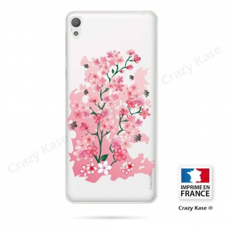 Coque Xperia E5 souple motif Fleurs de Cerisier - Crazy Kase