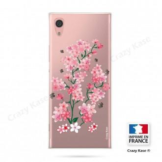Coque Xperia XA1 souple motif Fleurs de Sakura - Crazy Kase