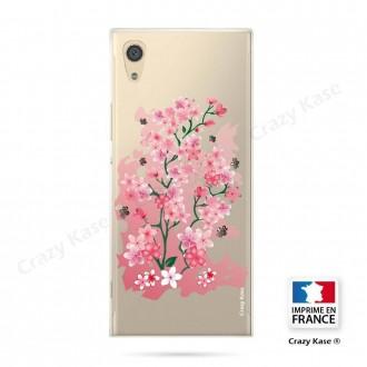 Coque Xperia XA1 souple motif Fleurs de Cerisier - Crazy Kase