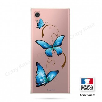 Coque Xperia XA1 souple motif Papillon sur Arabesque - Crazy Kase