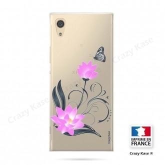 Coque Xperia XA1 souple motif Fleur de lotus et papillon- Crazy Kase