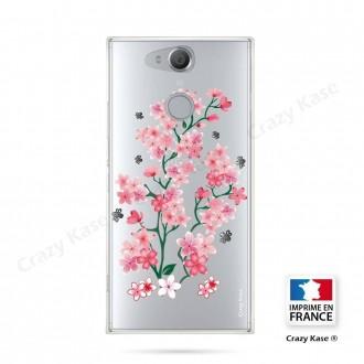 Coque Xperia XA2 souple motif Fleurs de Sakura - Crazy Kase