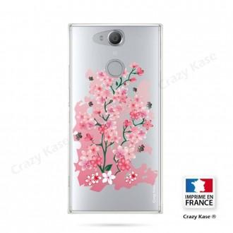 Coque Xperia XA2 souple motif Fleurs de Cerisier - Crazy Kase