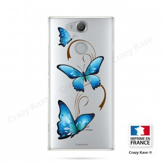 Coque Xperia XA2 souple motif Papillon sur Arabesque - Crazy Kase