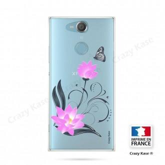 Coque Xperia XA2 souple motif Fleur de lotus et papillon- Crazy Kase