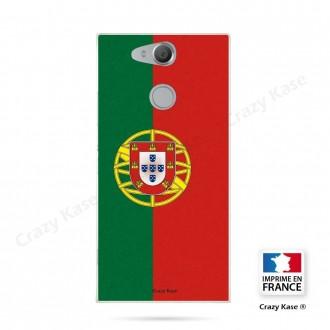 Coque Xperia XA2 souple motif Drapeau Portugais - Crazy Kase