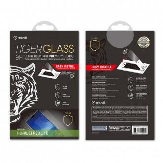 Film Huawei P20 Lite protection écran verre trempé incurvé avec applicateur - Muvit