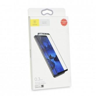 Film Galaxy S9+ protection écran verre trempé contour Noir - Baseus