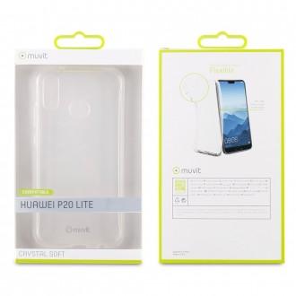 Coque HuaweiP20 Lite Transparente souple - Muvit