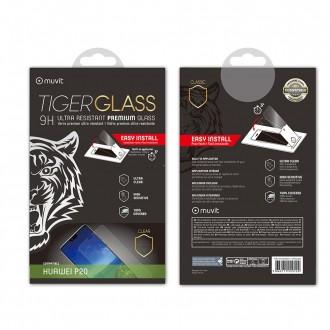Film Huawei P20 protection écran verre trempé incurvé avec applicateur - Muvit