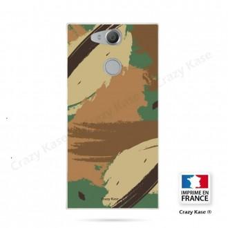 Coque Xperia XA2 souple motif Camouflage - Crazy Kase
