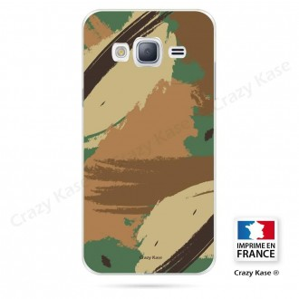 Coque Galaxy Grand Prime souple motif Camouflage - Crazy Kase
