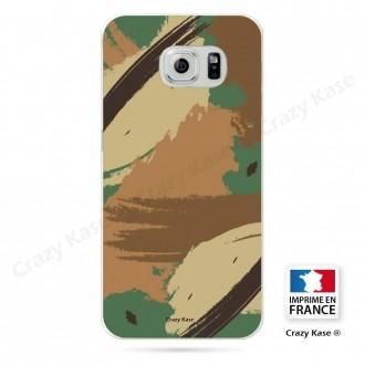 Coque Galaxy S6 Edge souple motif Camouflage - Crazy Kase
