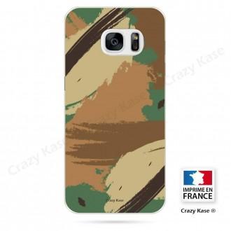 Coque Galaxy S7 souple motif Camouflage - Crazy Kase