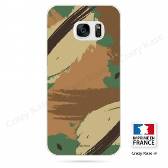 Coque Galaxy S7 Edge souple motif Camouflage - Crazy Kase