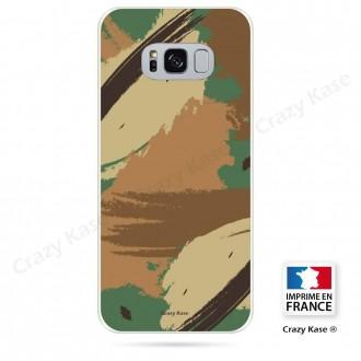 Coque Galaxy S8 souple motif Camouflage - Crazy Kase