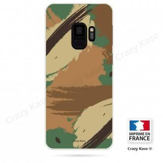 Coque Galaxy S9 souple motif Camouflage - Crazy Kase