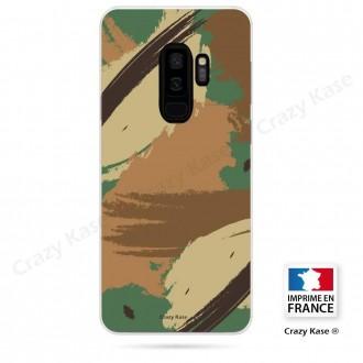 Coque Galaxy S9+ souple motif Camouflage - Crazy Kase