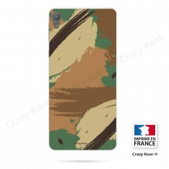 Coque Xperia E5 souple motif Camouflage - Crazy Kase