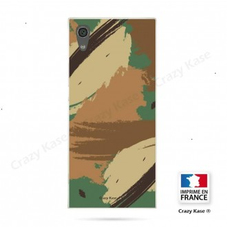 Coque Xperia XA1 souple motif Camouflage - Crazy Kase