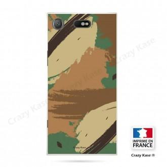 Coque Xperia XZ1 Compact souple motif Camouflage - Crazy Kase