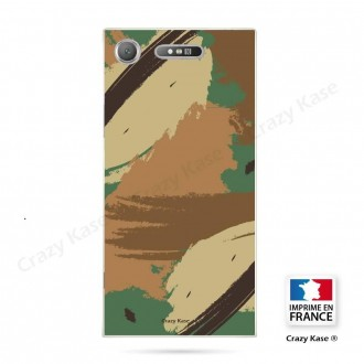 Coque Xperia XZ1 souple motif Camouflage - Crazy Kase