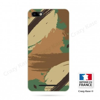 Coque Wiko Lenny 3 souple motif Camouflage - Crazy Kase