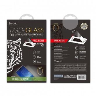 Film Huawei P20 Pro protection écran verre trempé incurvé avec applicateur - Muvit