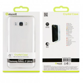 Coque Galaxy J7 (2016) Transparente et rigide - Muvit