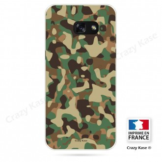 Coque Galaxy A3 (2016) souple motif Camouflage militaire - Crazy Kase