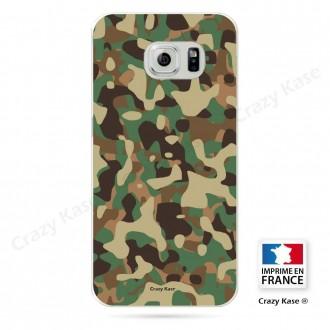 Coque Galaxy S6 Edge souple motif Camouflage militaire - Crazy Kase