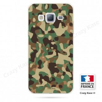 Coque Galaxy J3 (2016) souple motif Camouflage militaire - Crazy Kase