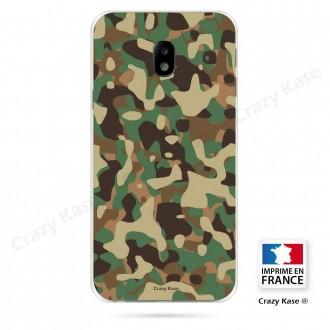Coque Galaxy J3 (2017) souple motif Camouflage militaire - Crazy Kase