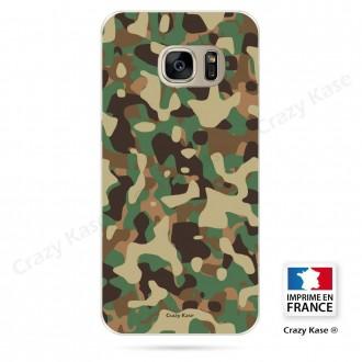 Coque Galaxy S7 Edge souple motif Camouflage militaire - Crazy Kase