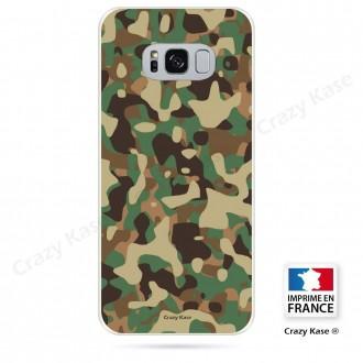 Coque Galaxy S8 souple motif Camouflage militaire - Crazy Kase