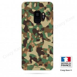 Coque Galaxy S9 souple motif Camouflage militaire - Crazy Kase