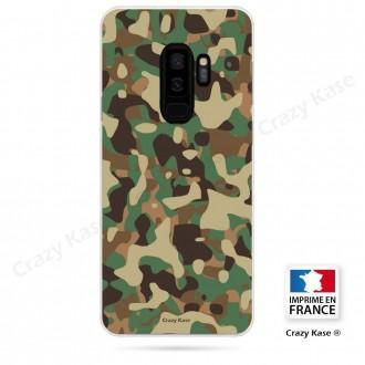 Coque Galaxy S9+ souple motif Camouflage militaire - Crazy Kase