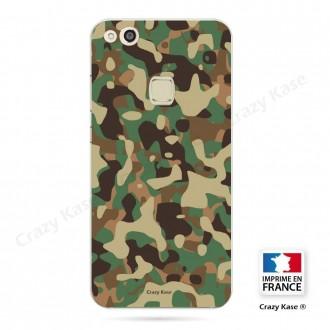Coque Huawei P10 Lite souple motif Camouflage militaire - Crazy Kase