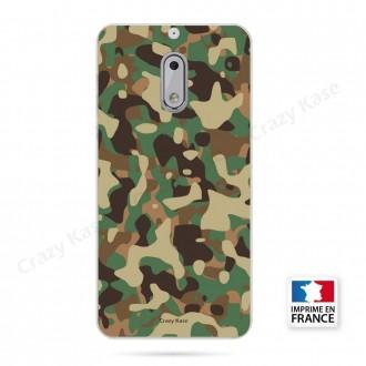 Coque Nokia 6 souple motif Camouflage militaire - Crazy Kase