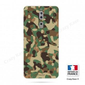 Coque Nokia 8 souple motif Camouflage militaire - Crazy Kase
