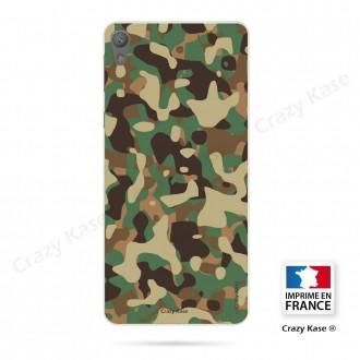 Coque Xperia E5 souple motif Camouflage militaire - Crazy Kase