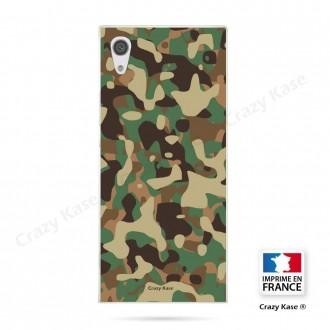 Coque Xperia XA1 souple motif Camouflage militaire - Crazy Kase